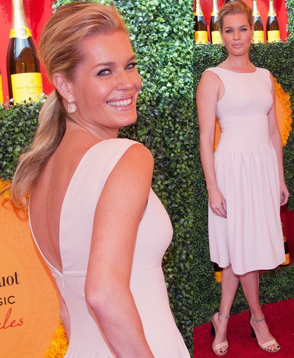 Rebecca Romijn paraded her legs at the Third Annual Veuve Clicquot Polo Classic