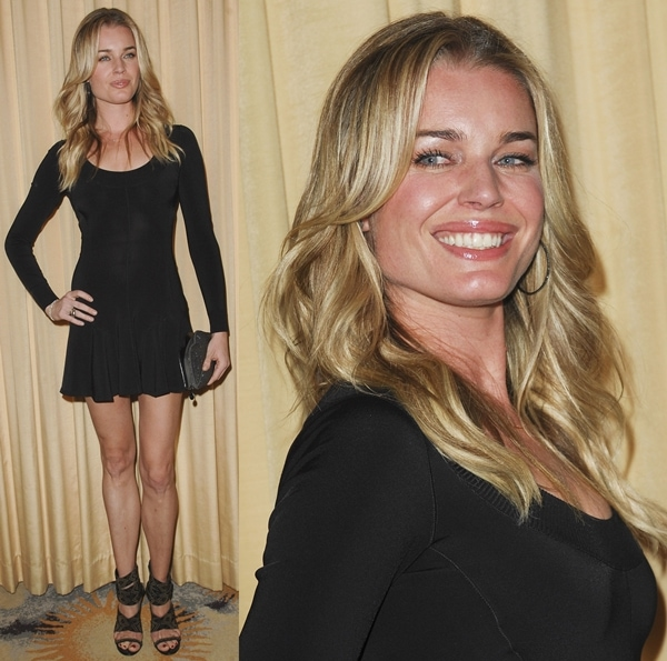 Rebecca Romijn flaunted her sexy stems at the Forevermark & InStyle Beauty & Brilliance Celebration