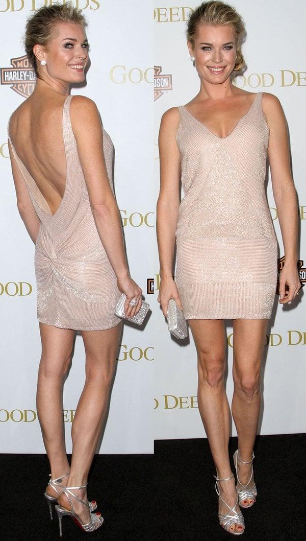 Rebecca Romijn's incredible legs at the Good Deeds premiere