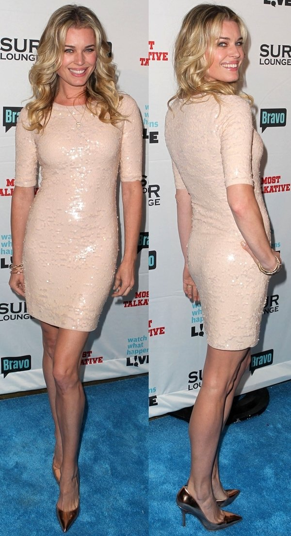 Rebecca Romijn's endless legs at Bravo's Andy Cohen's Book Release Party for Most Talkative: Stories from the Front Lines of Pop Culture