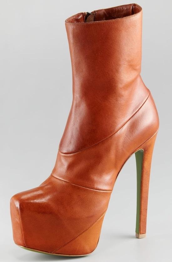 Ruthie Davis Laurel Leather Platform Booties