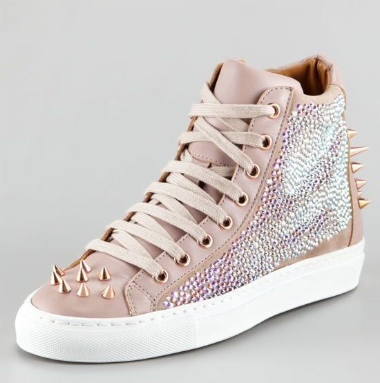 Ruthie Davis Pierce Sparkle High-Top Sneakers