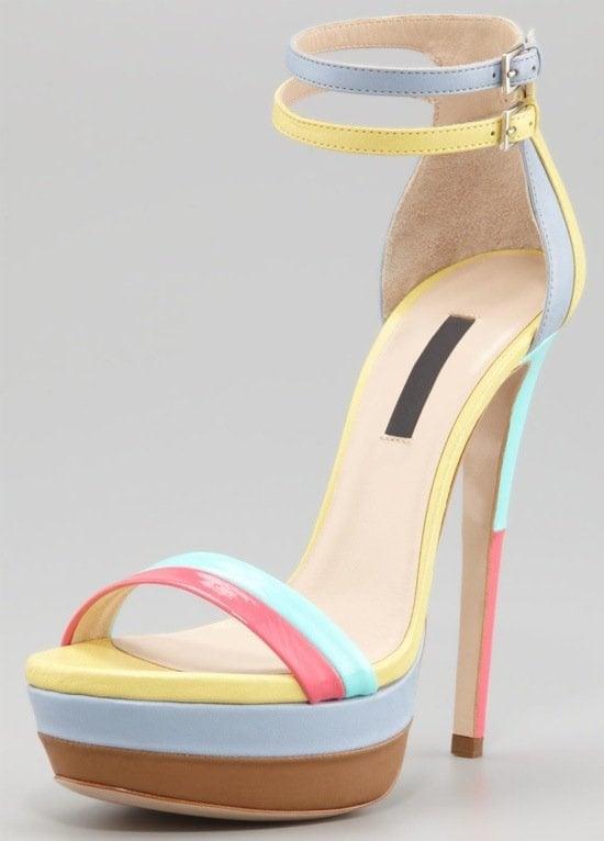 Ruthie Davis West Palm Patent Platform Sandals