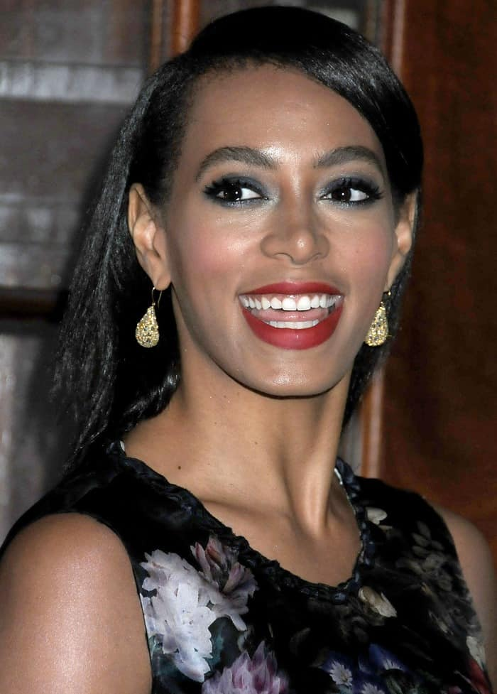 Solange Knowles attends the American Ballet Theatre Opening Night Fall New York City Center Gala in New York City on October 16, 2012