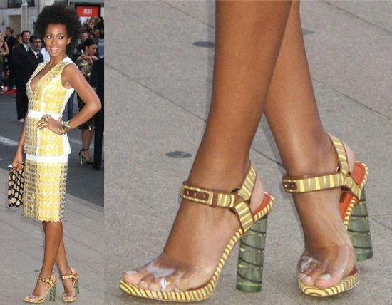 Solange Knowles's pretty feet at the 2012 CFDA Fashion Awards