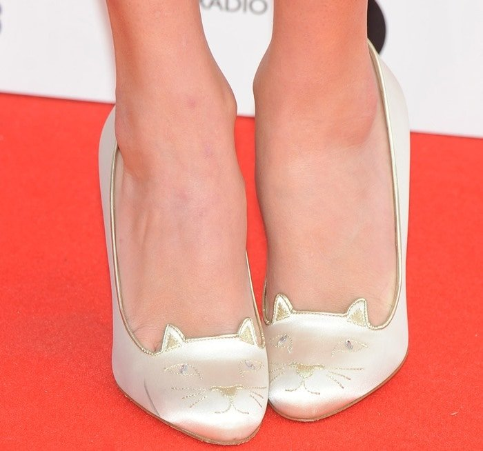 Taylor Swift Street Chic To Red Carpet In Charlotte Olympia Shoes
