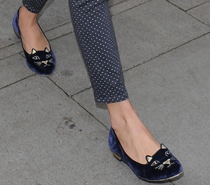 Taylor Swift wearing Charlotte Olympia shoes