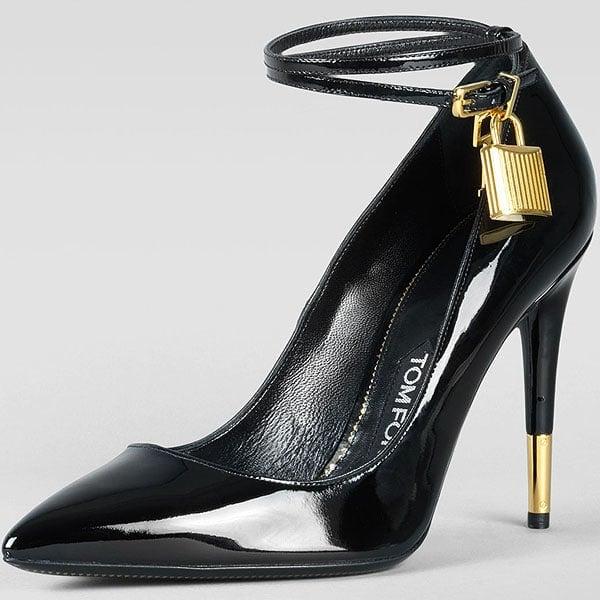 Tom Ford padlock ankle strap pumps