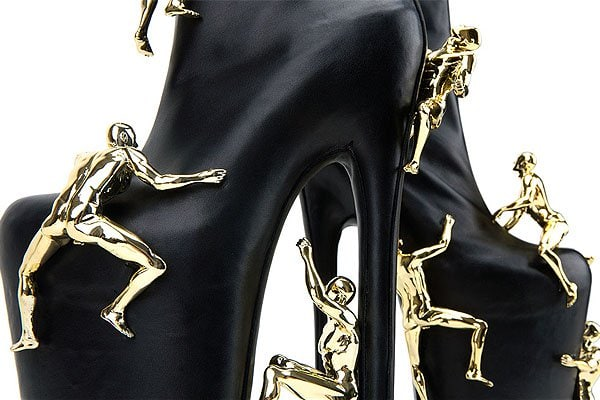 United Nude's custom made boots for Lady Gaga and her Fame perfume
