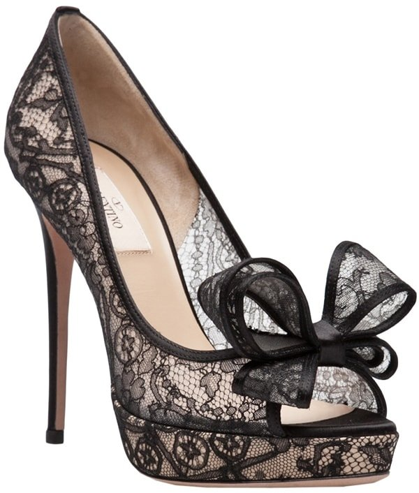 Valentino Lace Couture Bow Pumps
