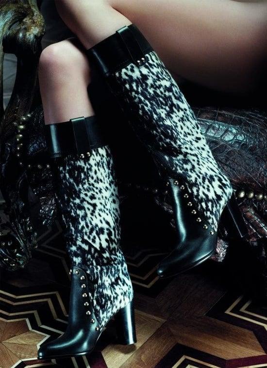 Sergio Rossi Fur Boots