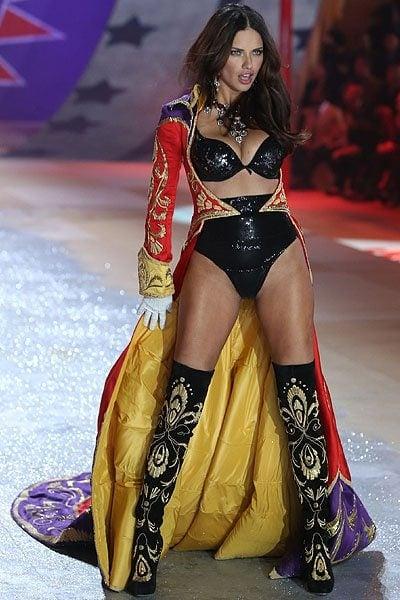 Brazilian model Adriana Lima walks the runway during the Victoria's Secret 2012 Fashion Show