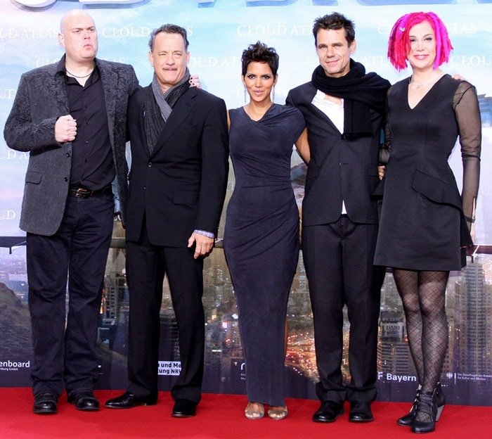 Andy Wachowski, Tom Hanks, Halle Berry, Tom Tykwer and Lana Wachowski