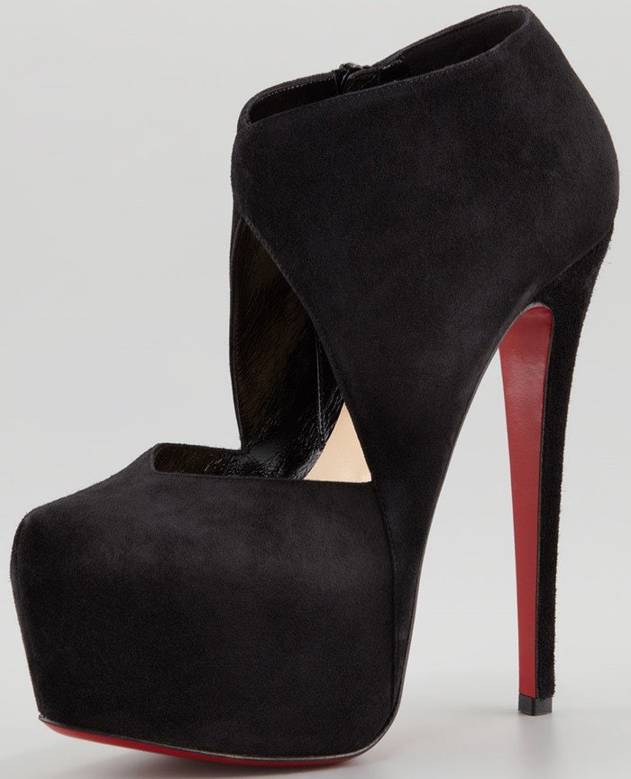 Christian Louboutin Donue Open-Front Red Sole Bootie