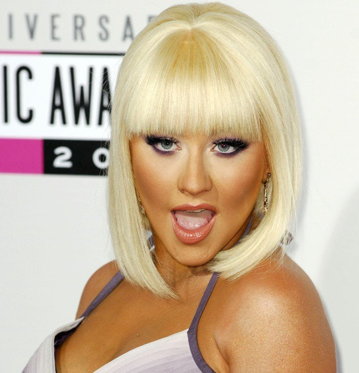 Christina Aguilera at the 40th Anniversary American Music Awards held at Nokia Theatre L.A. Live in Los Angeles, California on November 18, 2012