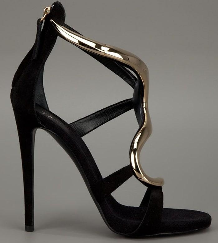 Giuseppe Zanotti Gold Wave Sandals