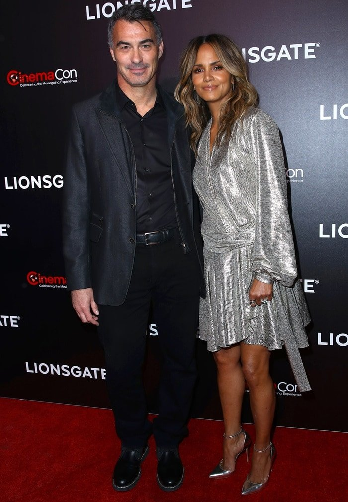 Chad Stahelski and Halle Berry at the 2019 CinemaCon