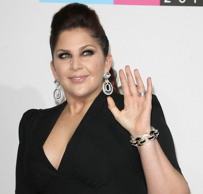 Hillary Scott wears a black dress at the 40th Anniversary American Music Awards