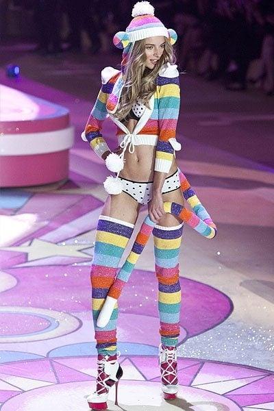 Latvian model Ieva Lagūna walks the runway during the Victoria's Secret 2012 Fashion Show