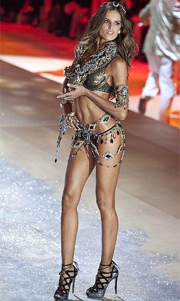 Brazilian model Izabel Goulart walks the runway during the Victoria's Secret 2012 Fashion Show