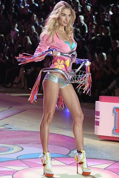 Australian model Jessica Hart walks the runway during the Victoria's Secret 2012 Fashion Show