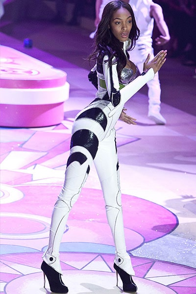 English supermodel Jourdan Dunn walks the runway during the Victoria's Secret 2012 Fashion Show