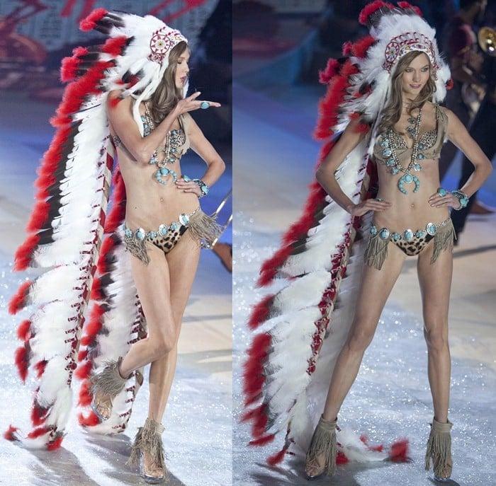 American model Karlie Elizabeth Kloss walks the runway during the Victoria's Secret 2012 Fashion Show