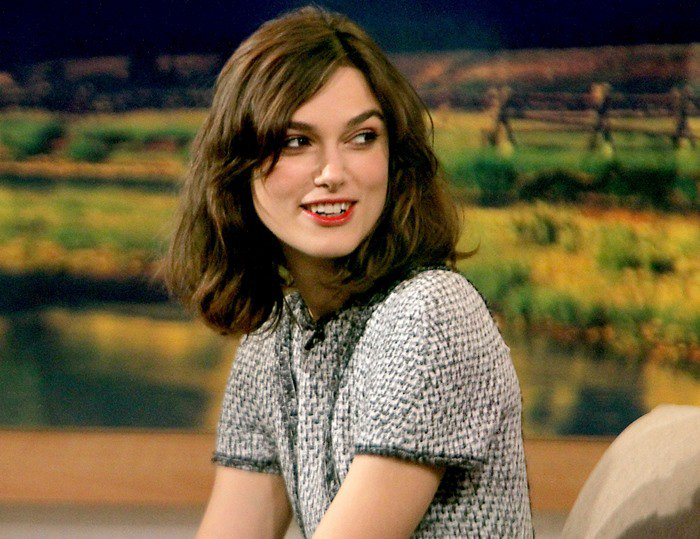 Keira Knightley's berry-stained lips