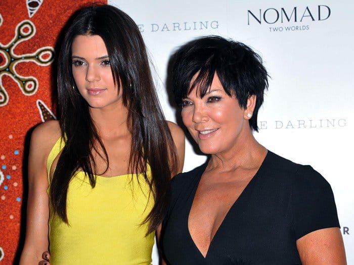 "Kendall Jenner posing with her mother, Kristen Mary ""Kris"" Jenner"