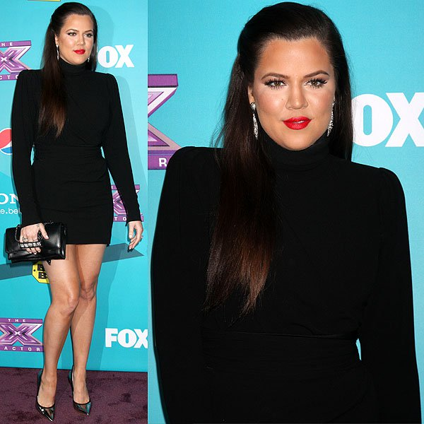 Khloe Kardashian at Fox's The X Factor Finalists Party at the SLS Hotel in Beverly Hills, California on November 5, 2012