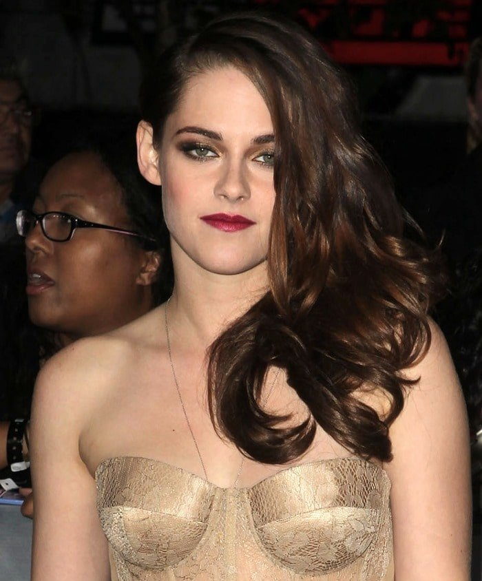 Kristen Stewart at the Twilight Saga: Breaking Dawn Part 2 premiere at Nokia Theatre L.A. Live. in Los Angeles on November 12, 2012