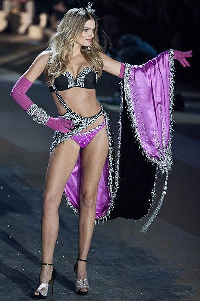 English model Lily Donaldson walks the runway during the Victoria's Secret 2012 Fashion Show