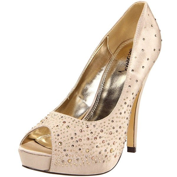 "Luichiny ""Troop Pers"" Studded Peep-Toe Pumps"