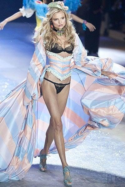 Polish model Magdalena Frąckowiak walks the runway during the Victoria's Secret 2012 Fashion Show