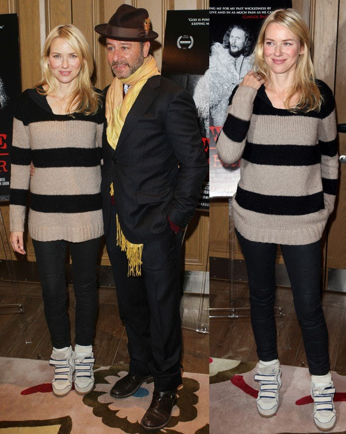 Fisher Stevens and Naomi Watts at the Beware of Mr. Baker New York Screening at the Crosby Street Hotel in New York City on November 27, 2012
