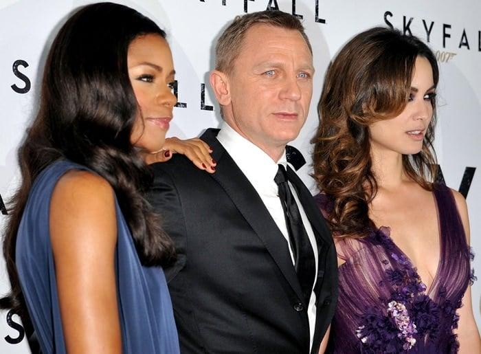 Naomie Harris, Daniel Craig, and Berenice Marlohe at the Australian premiere of 'Skyfall'