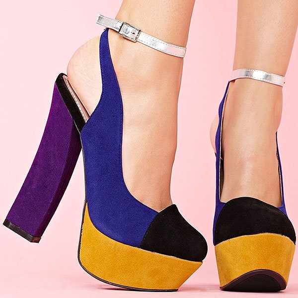 'Block Party' Platform Sandal