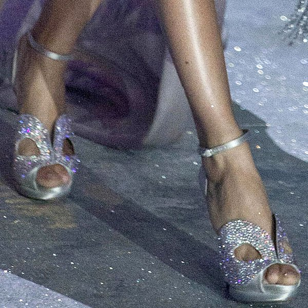 Puerto Rican supermodel Joan Smalls Rodriguez shows off her sexy feet