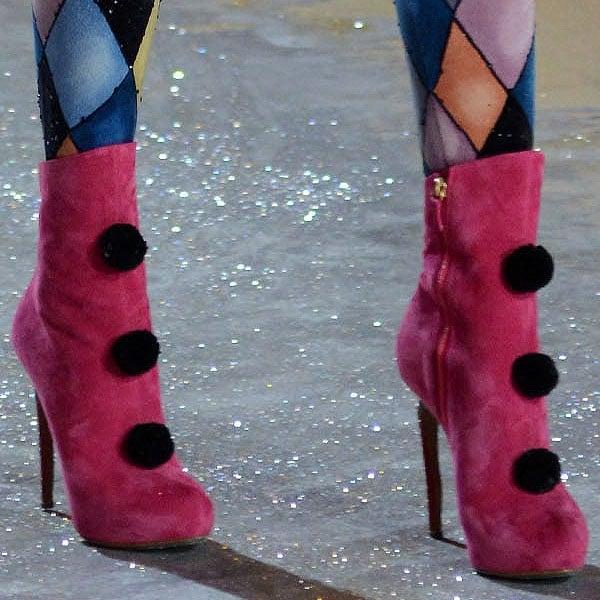 Barbara Fialho rocks Secret Circus ankle boots