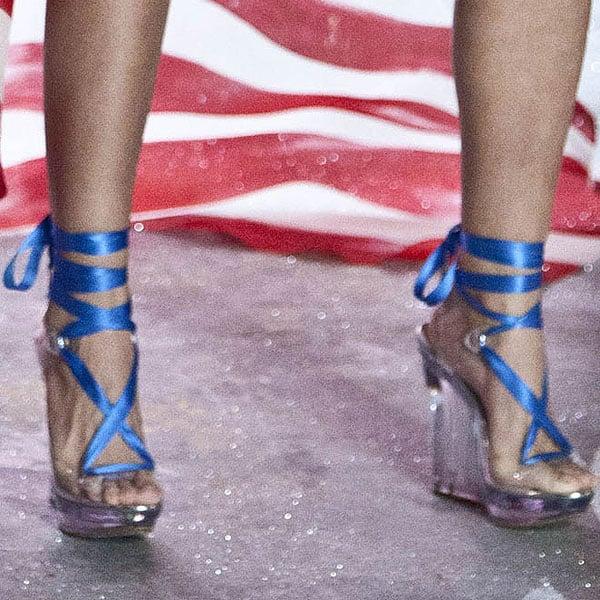 American model Lily Aldridge shows off her feet
