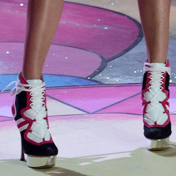 Swedish model Elsa Hosk flaunts her legs in heels by Nicholas Kirkwood