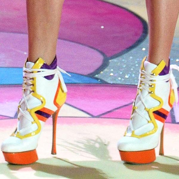 Australian model Jessica Hart wears Nicholas Kirkwood shoes