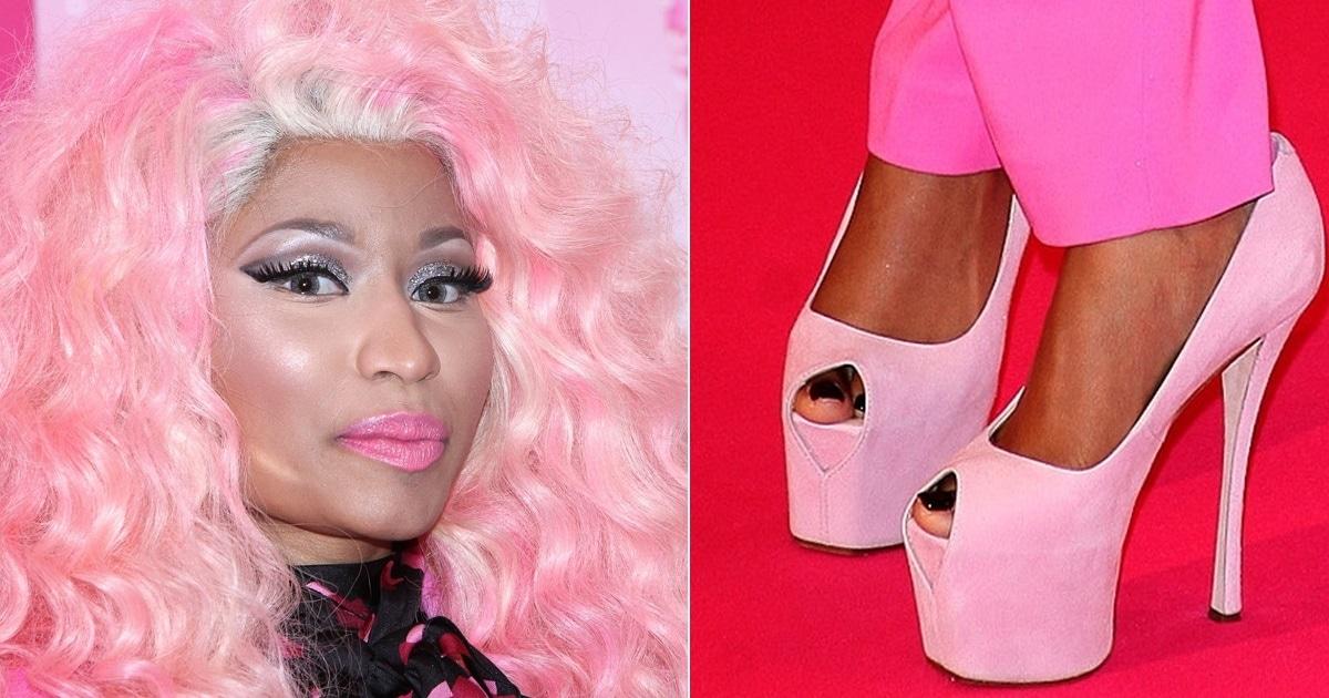 Nicki Minaj Promotes New Fragrance In Pink Giuseppe Zanottis