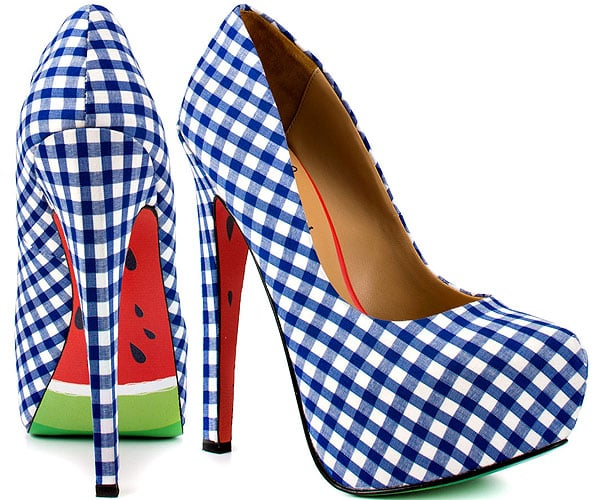 """""""Melons"""" Gingham Check Pumps"""
