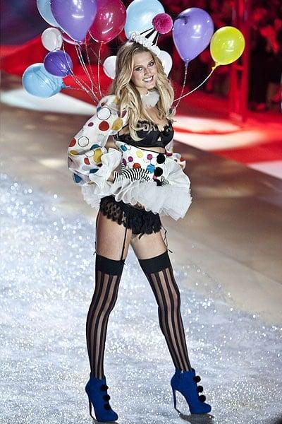 Model Toni Garrn walks the runway during the Victoria's Secret 2012 Fashion Show