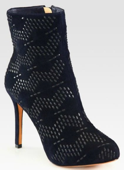 Alexandre Birman Suede and Leather Ankle Boots