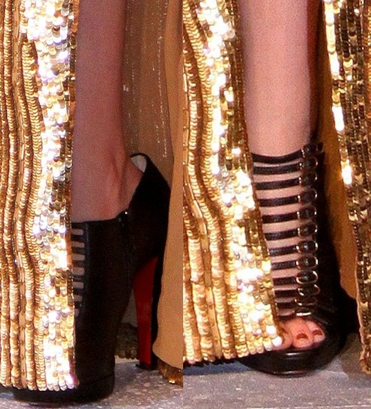 Kristen Stewart's sexy toes in Christian Louboutin booties