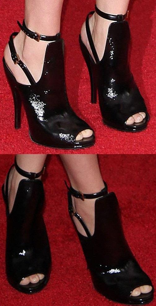 A closer look at Scarlett Johansson's heels