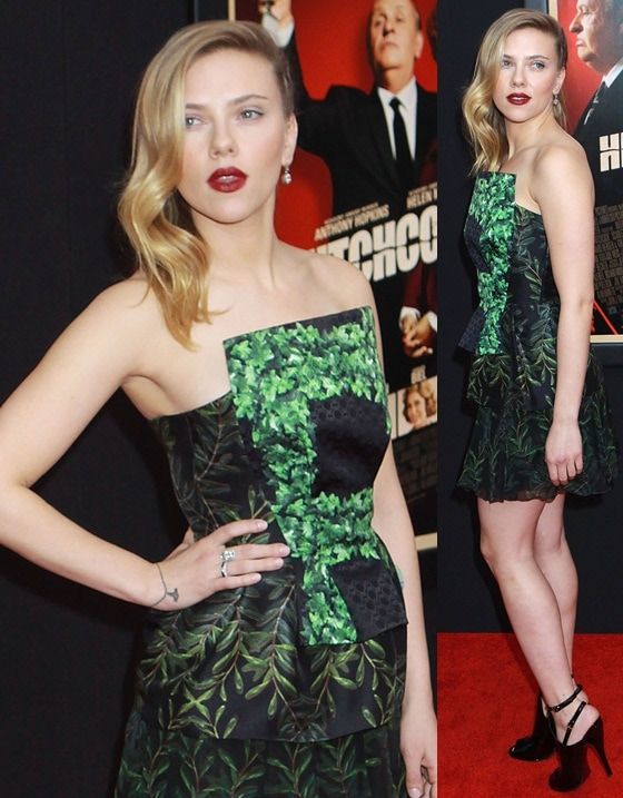 Actress Scarlett Johansson attends the Hitchcock New York Premiere at Ziegfeld Theater on November 18, 2012 in New York City