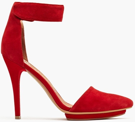 Jeffrey Campbell Solitaire Platform Pumps in Red Suede